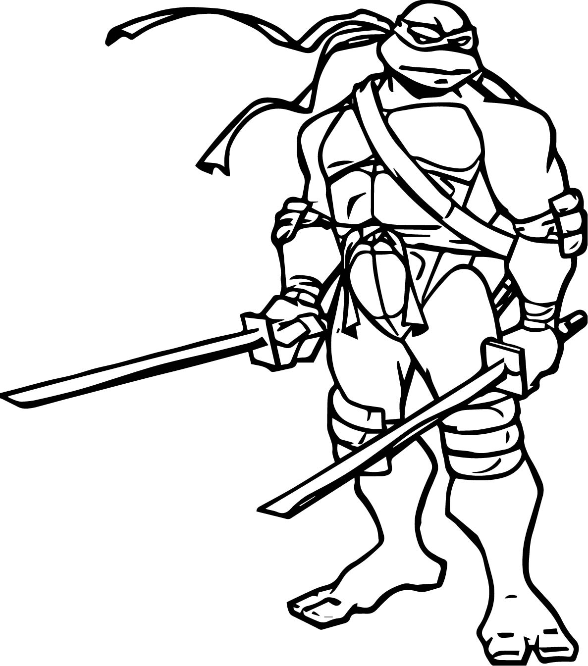 leonardo ninja turtles coloring lesson coloring pages for kids