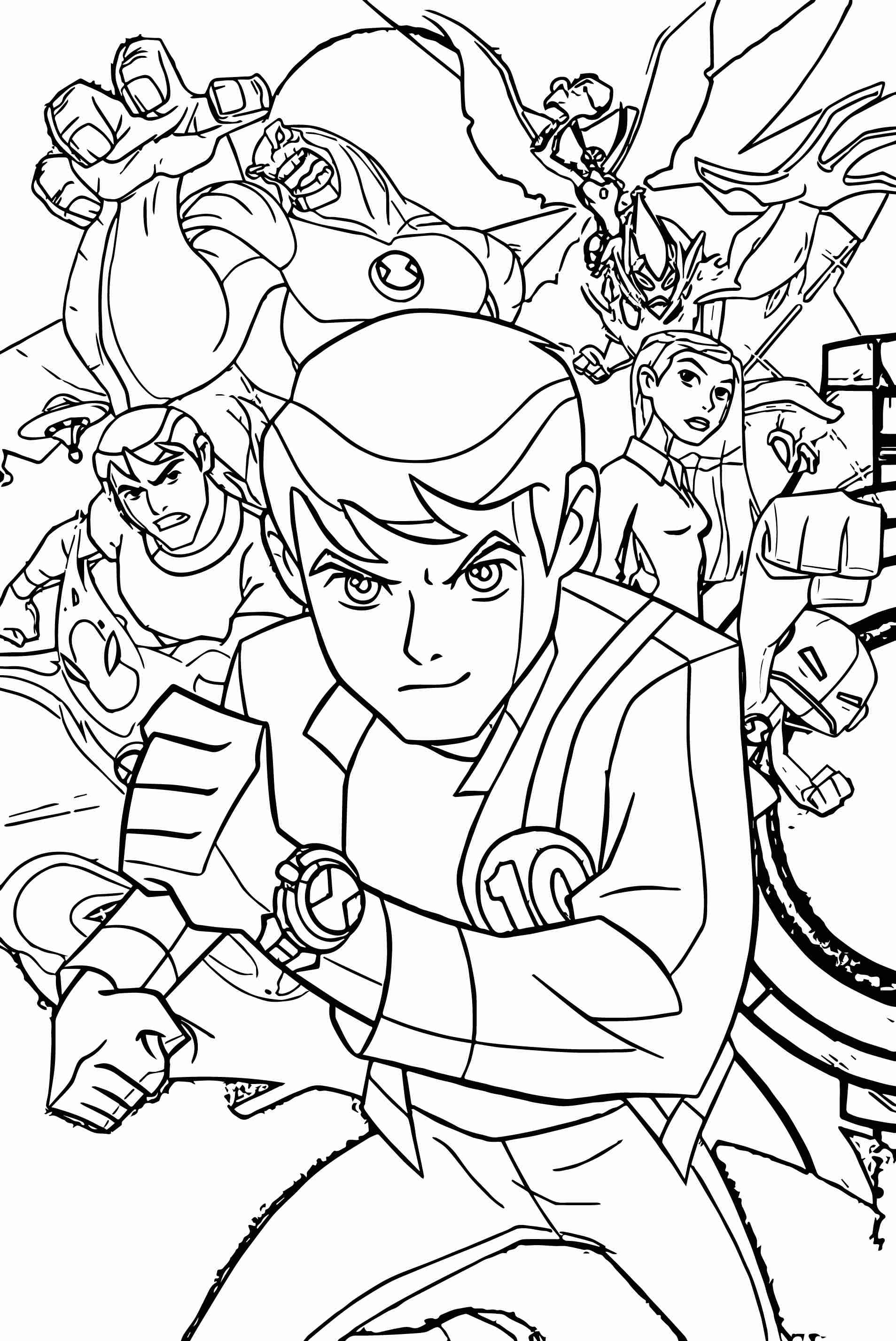 ben 10 coloring lesson coloring pages for kids