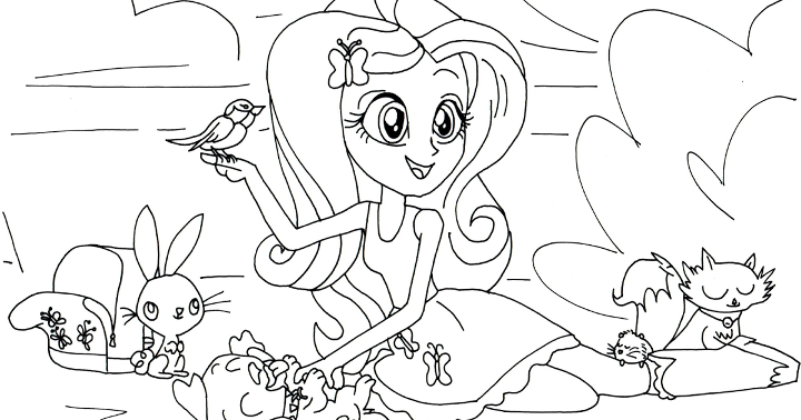 equestria girls coloring lesson - Outline Drawing For Kids