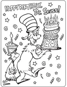Free Dr Seuss Coloring Pages Dr Seuss Coloring Lesson  Coloring Lesson  Free Printables And .