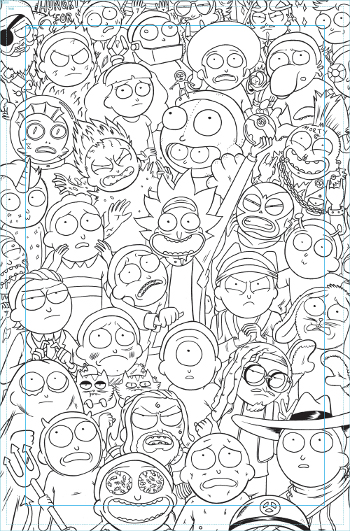 Rick Morty Coloring Lesson Coloring Pages for Kids Coloring