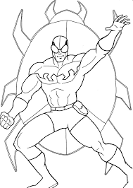Blue beetle coloring lesson coloring pages for kids for Blue beetle coloring pages