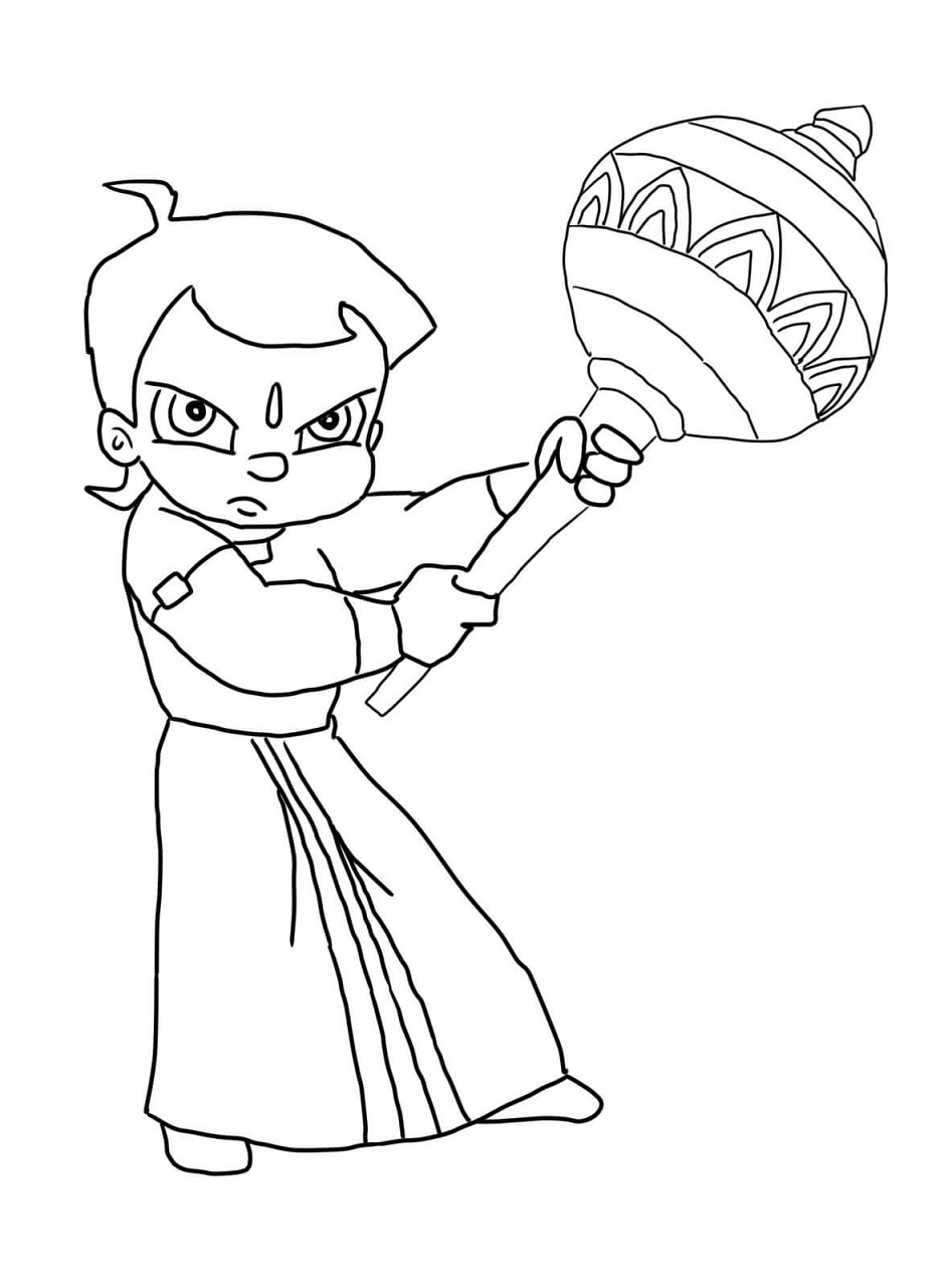 Chota Bheem Coloring Lesson | Kids Coloring Page ...