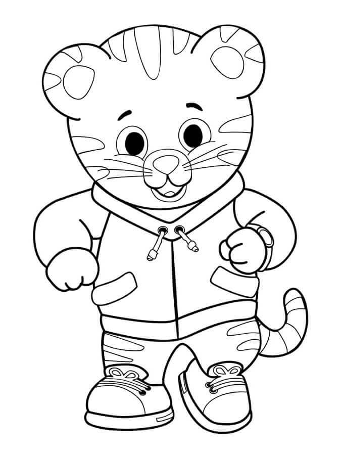 Daniel Tiger Neighbourhood Coloring