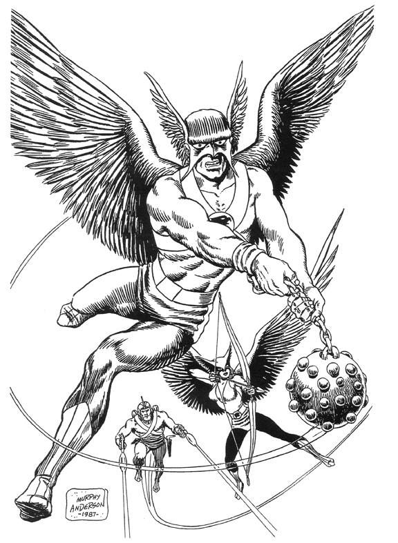 Hawkman Coloring Lesson Coloring
