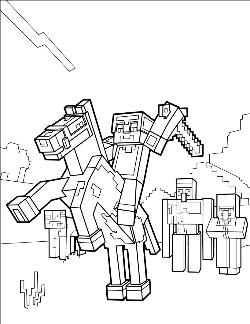 Minecraft Coloring Lesson | Kids Coloring Page