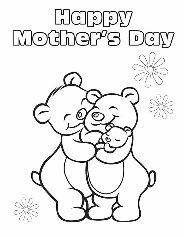 Happy Mother Day Card Coloring Lesson