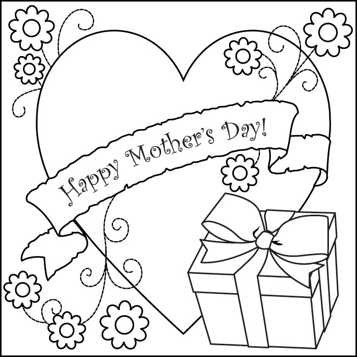 Happy Mother Day Card Coloring Lesson | Kids Coloring Page