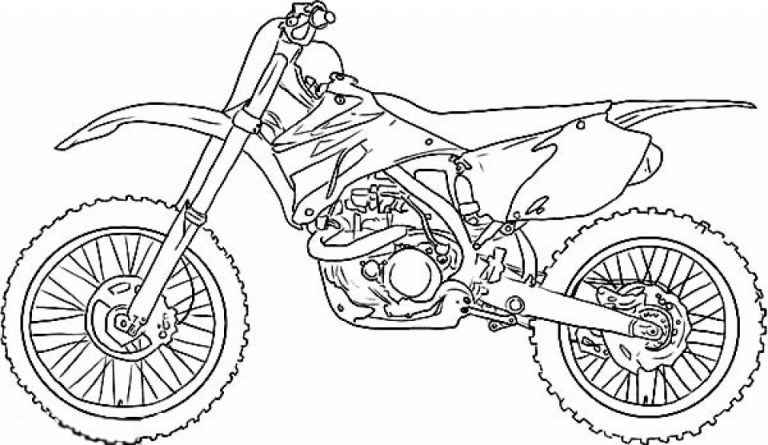 Motorbike Coloring Lesson | Kids Coloring Page