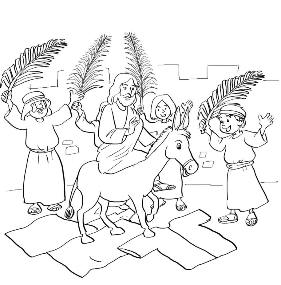 Palm Sunday Coloring Lesson | Kids Coloring Page