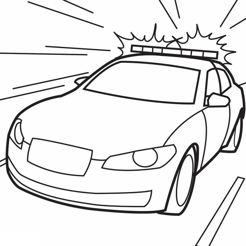 Police Car Coloring Lesson | Kids Coloring Page