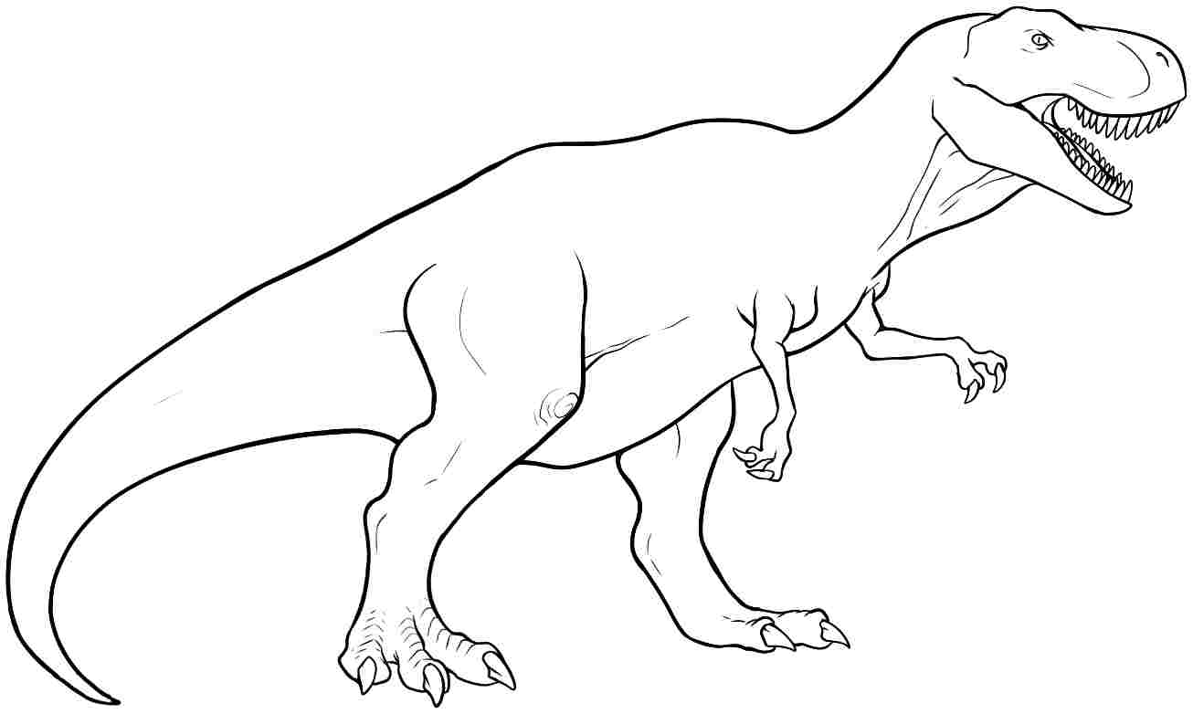 T-rex Coloring Lesson | Kids Coloring Page