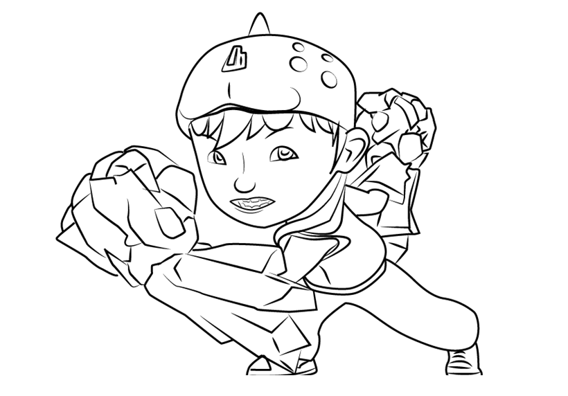 Boboiboy Coloring Lesson Kids Page Rhcoloringlesson: Colouring Pages Boboiboy At Baymontmadison.com