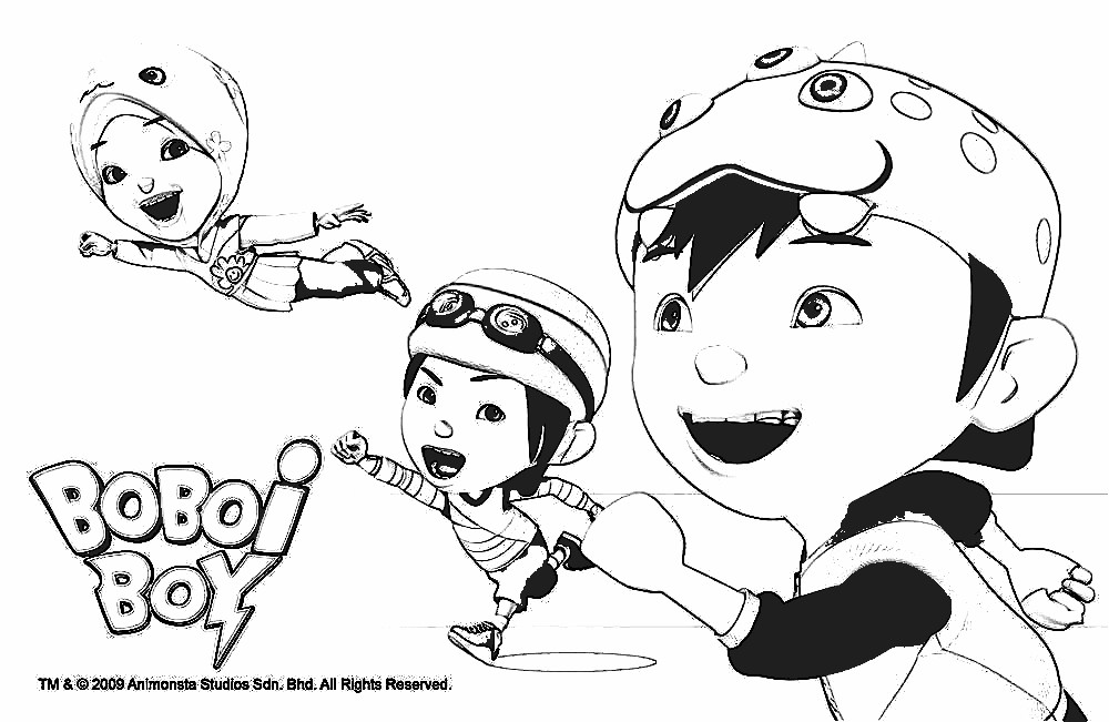 12 Printable Boboiboy Coloring Pages For Kids Oukasinfo