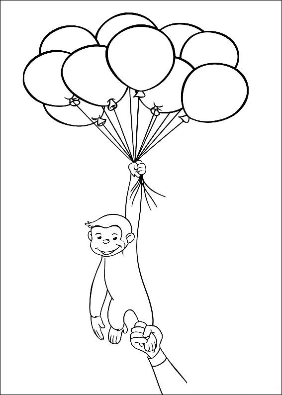 Curious George Coloring Lesson