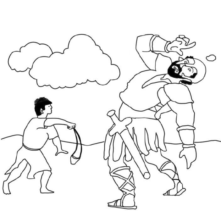 David and Goliath Coloring Lesson | Kids Coloring Page