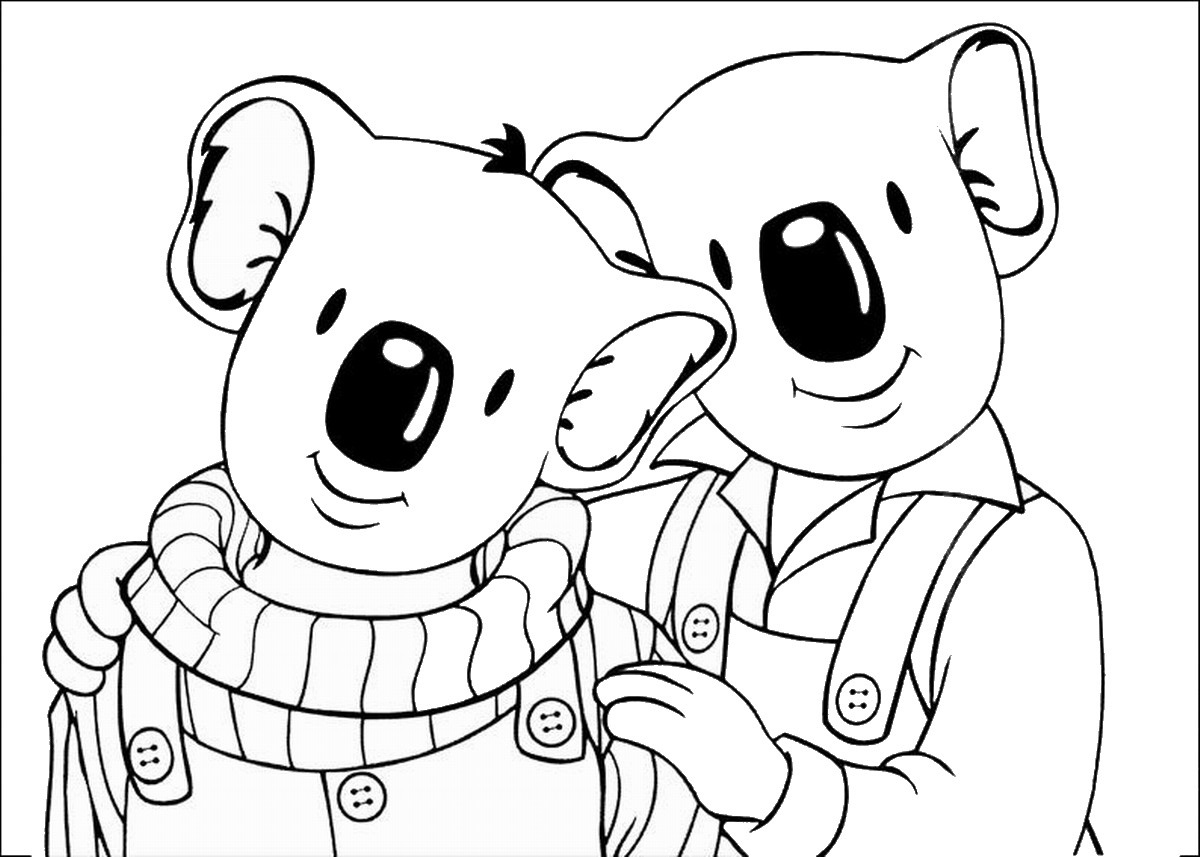 Koala Brothers Coloring Lesson | Kids Coloring Page