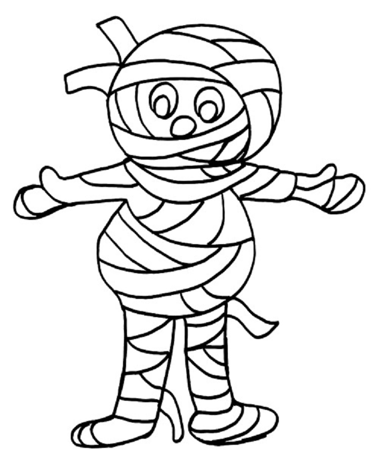 Mummy Coloring Lesson | Kids Coloring Page