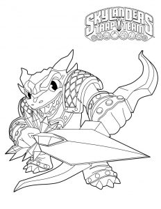 Skylander Coloring Lesson | Kids Coloring Page