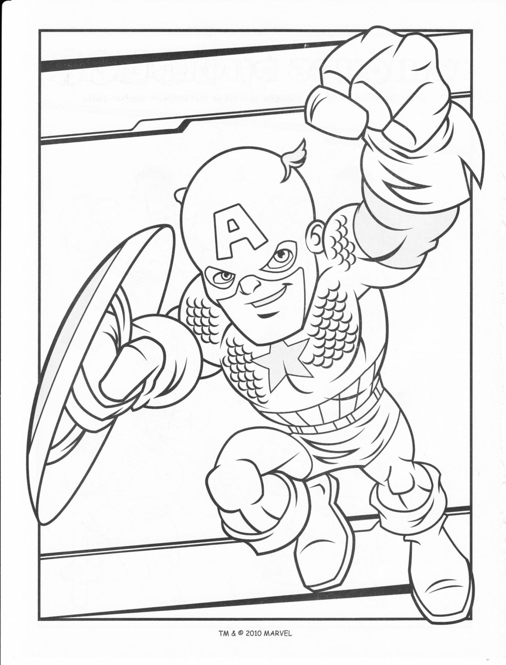 Super Hero Squad Show Coloring Lesson | Kids Coloring Page