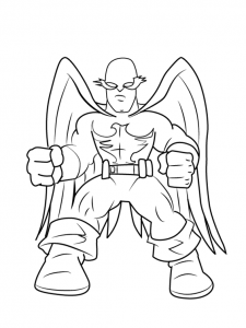 Super Hero Squad Coloring Page