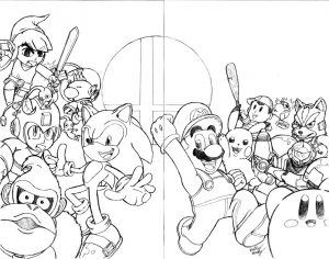 Super Smash Bros Coloring Lesson | Kids Coloring Page