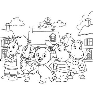 The Barkyardigans Coloring Lesson | Kids Coloring Page