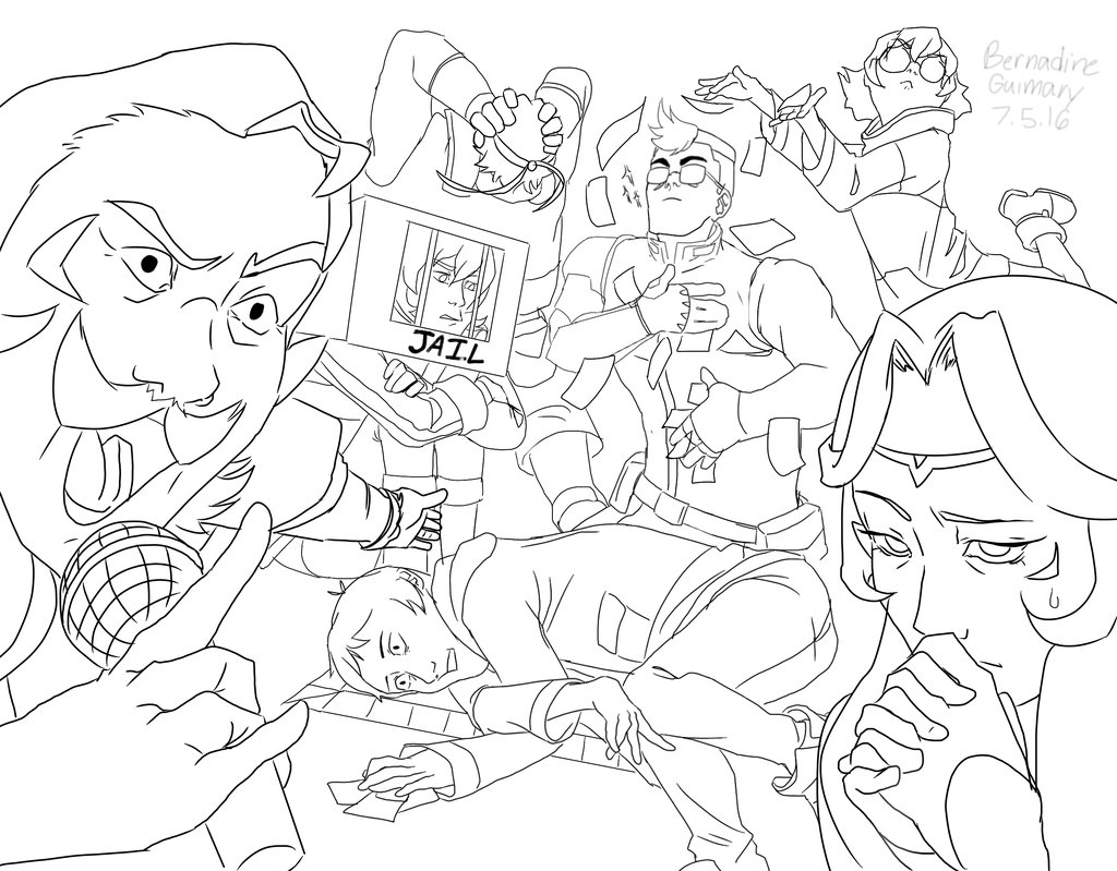 Voltron Legendary Defender In Coloring Pages: Kids Coloring Page – Coloring