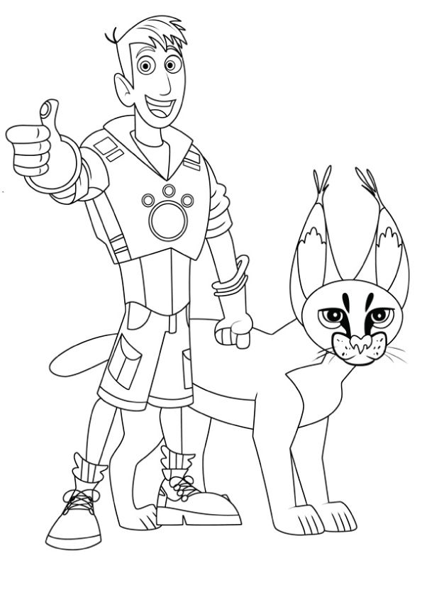 Wild Kratts Coloring Lesson | Kids Coloring Page