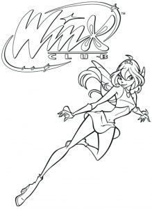 Winx Club Coloring Lesson | Kids Coloring Page