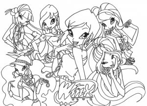 Winx Coloring Page