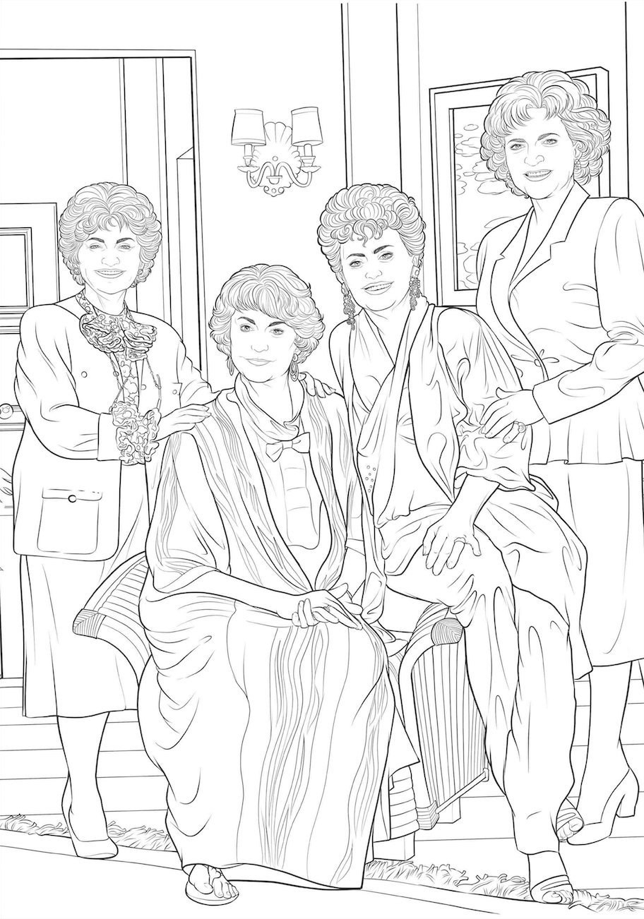 Golden Girls Coloring Pages Coloring