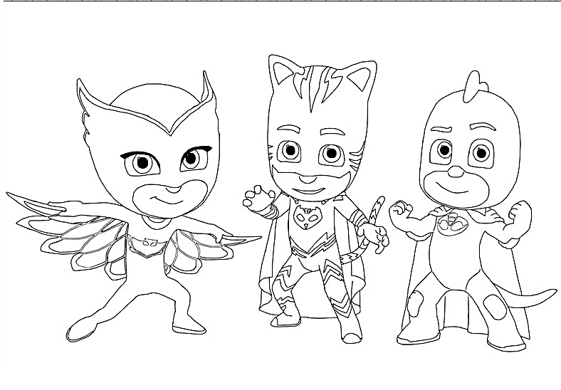 Pj mask coloring lesson coloring pages for kids for Pj masks coloring pages free printable