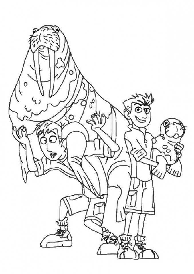 Wild Kratts Coloring Page Coloring